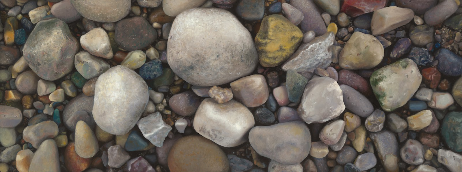 "Meditation on the Infinite, 2010, acrylic and oil on panel, 60""x24"
