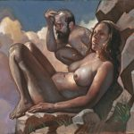 "Stephen Cefalo, Couple on Rock 16""x20"""
