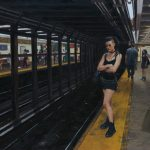 "Waiting for the L Train 25""x20"""