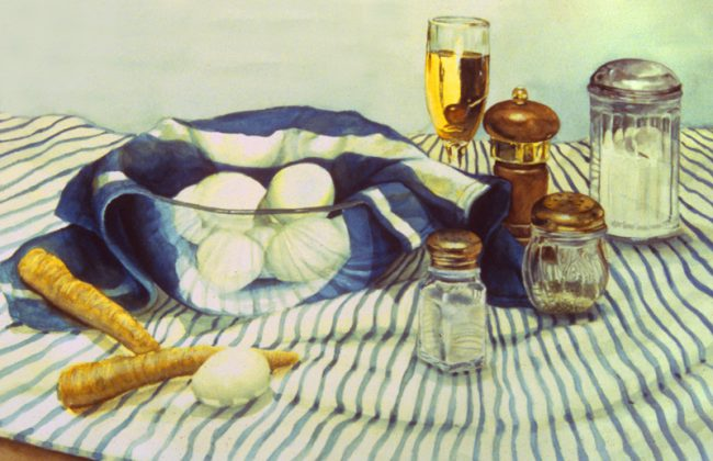"""Eggs, Watercolor on Paper, 22""""x30""""  available"""